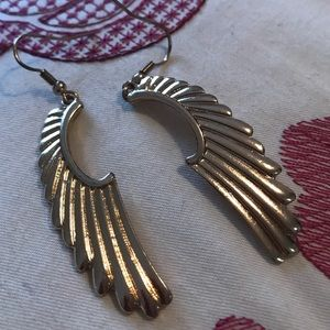 Angel wing gold earrings